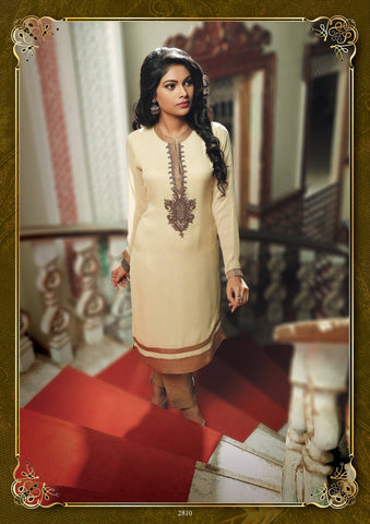 Beige Party Wear Tunic-www.riafashions.com