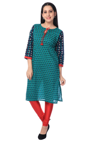 Churidhar Leggings - Lycra - Red-www.riafashions.com