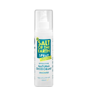 Crystal Spring Salt of the Earth Unscented Natural Deodorant Spray (200ml)