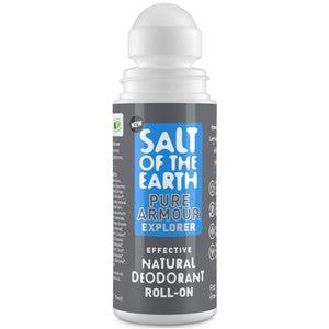 Crystal Spring Salt of the Earth Pure Armour Explorer Natural Roll-On Deodorant For Men (75ml)