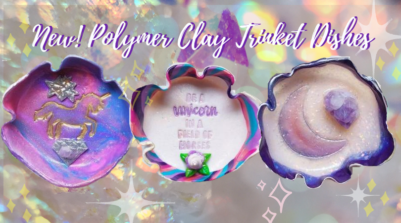 Polymer Clay Trinket Dishes made with Genuine Crystals!