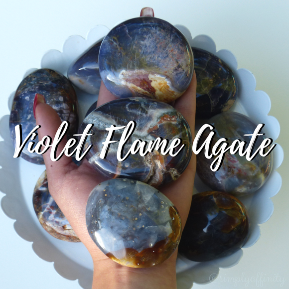 violet flame agate collection from simply affinity