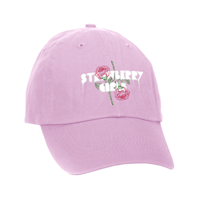 "Strawberry Girls ""Rose"" Dad Hat Pink"