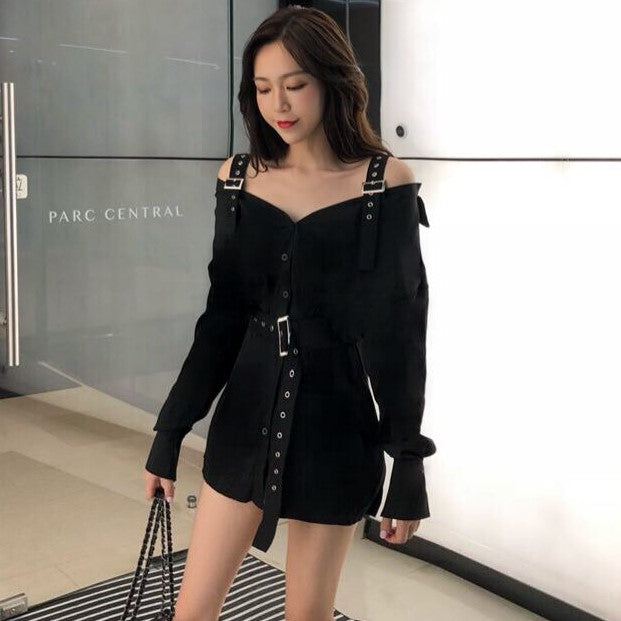 Korean fashion shirt skirt dress  KF2361