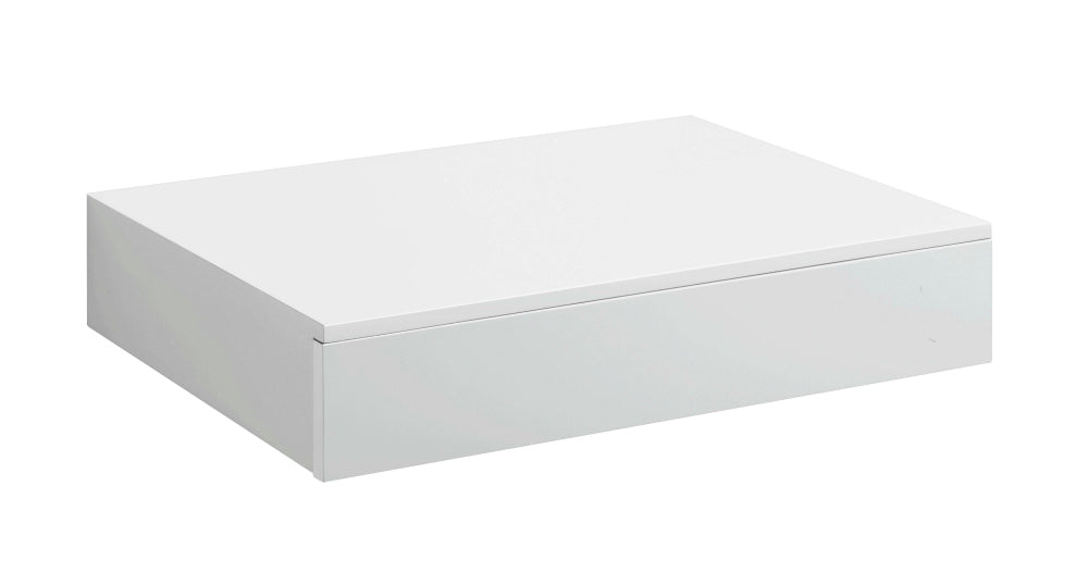 Dolle Floating Shelf with Drawer - White High Gloss - 17.5 x 9.5 x 2