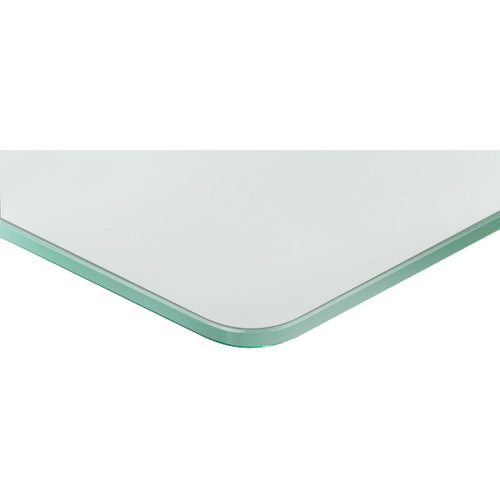 GLASSLINE Concave Frosted Glass Shelf- 23 5/8