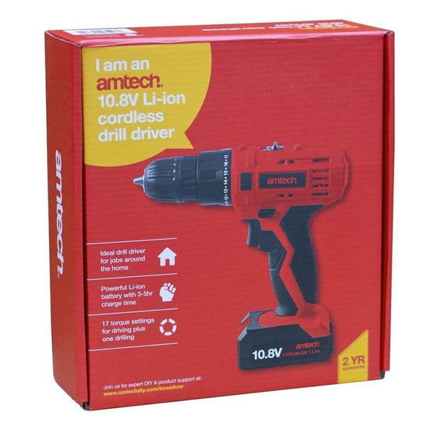 10.8V (12V) Li-Ion Cordless Rechargeable Variable Drill Driver Amtech V6505