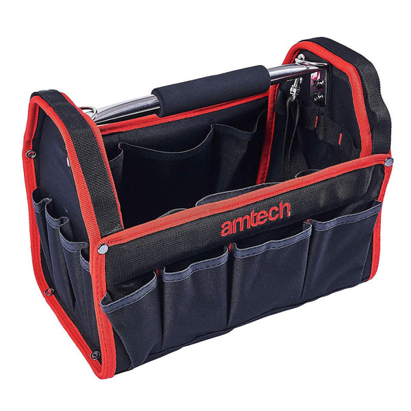 Tool Caddy Bag Heavy Duty Base Holdall Aluminium Handle 13'' 330mm Carry Case Amtech N0541