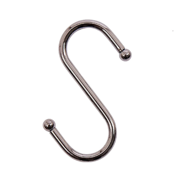 Stainless Steel Metal S Hooks Kitchen Utensil Hanger Cloths Hanging Rail 70mm 5 Pack