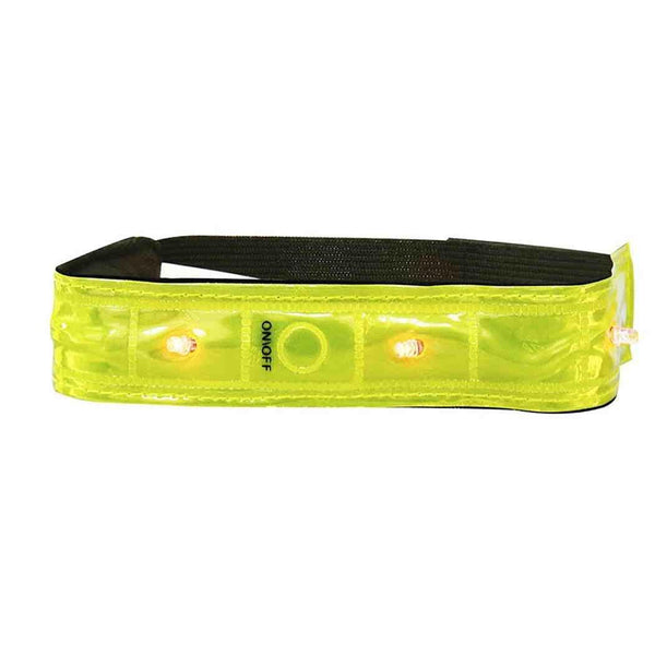 High Visibility Hi Vis Reflective Arm Band Ankle 4 LED Cycling Rolson 43306