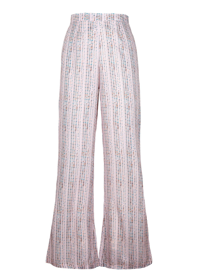 High-waisted Trousers I Morie Print