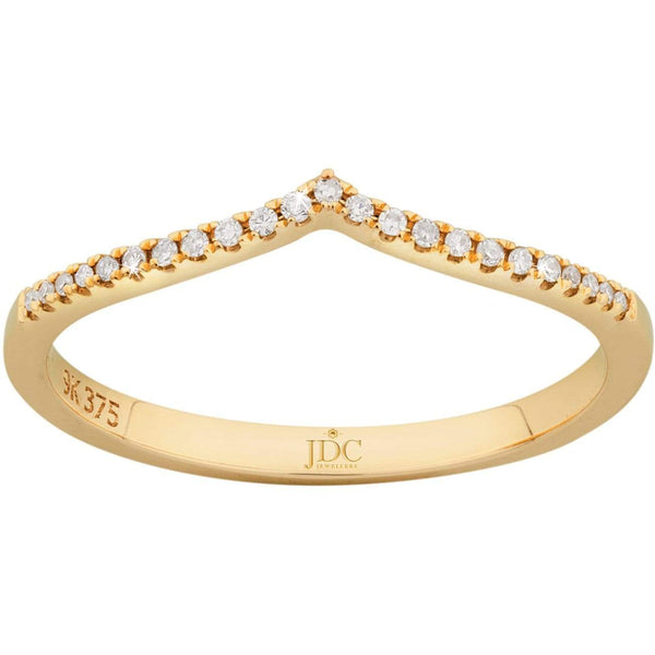 0.06ct Diamond Eternity Ring in 9ct Yellow Gold Claw Set Rings
