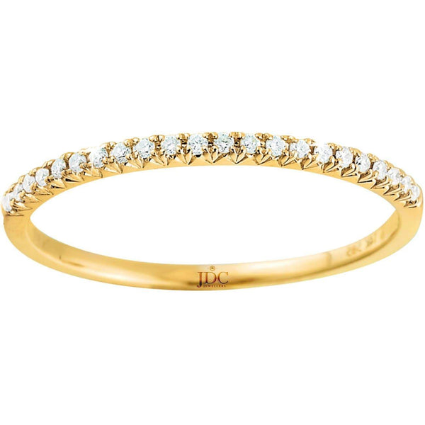 0.09ct Diamond Eternity Ring in 9ct Yellow Gold Claw Set Rings