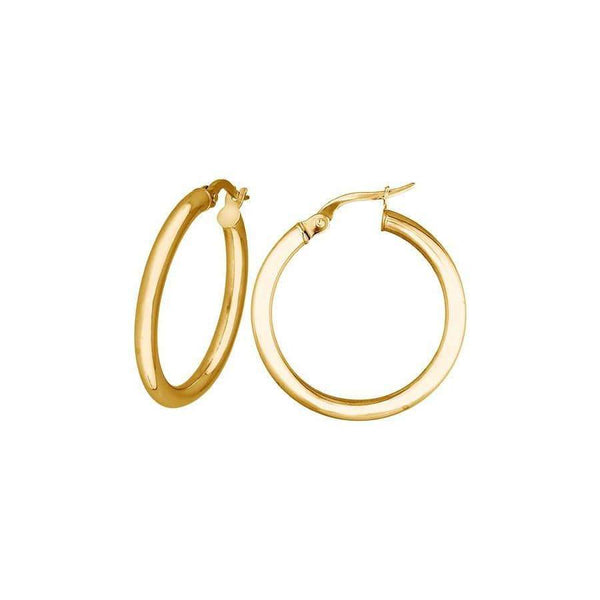 Medium hoop earrings in 9ct yellow gold Hoop Earrings