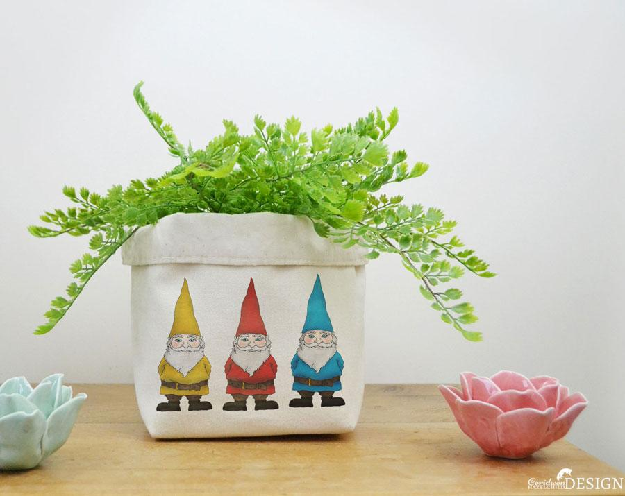Gnomes Canvas Storage Box by Ceridwen Hazelchild