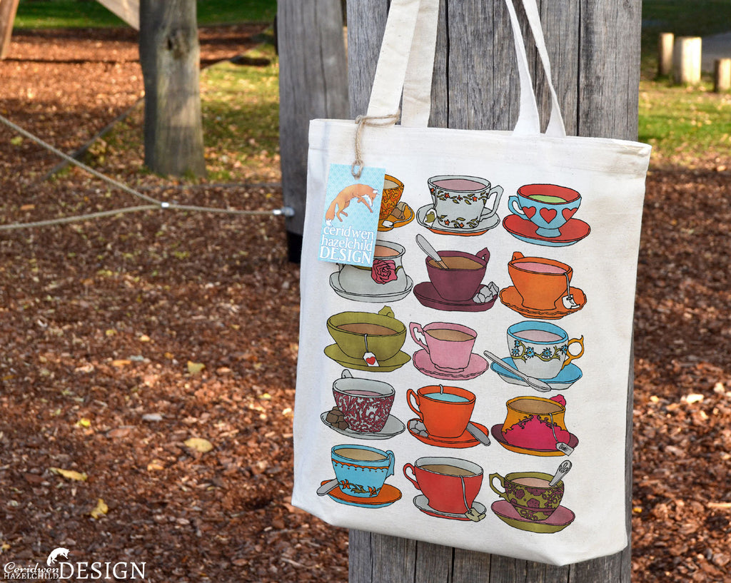 Teacups Tote Bag