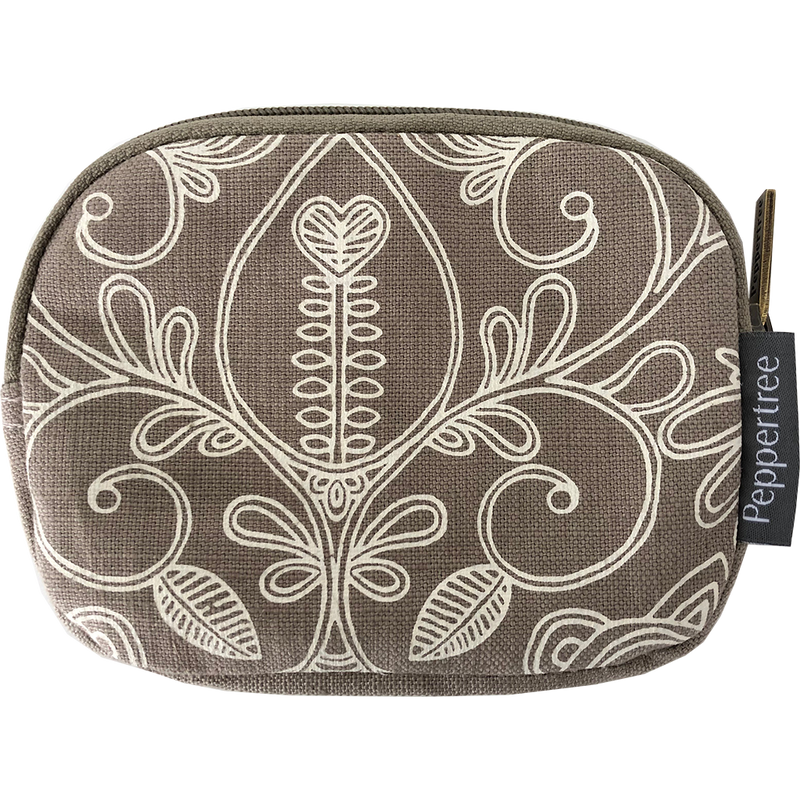 Peppertree Structured Purse - Filigree Parchment on Clay