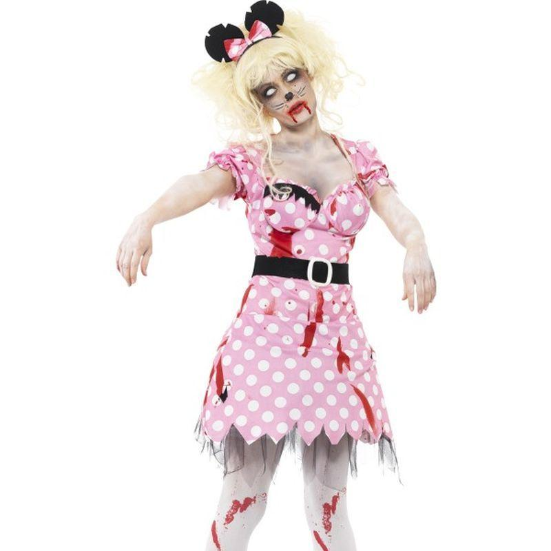 Zombie Rodent Costume - UK Dress 8-10 Womens Pink