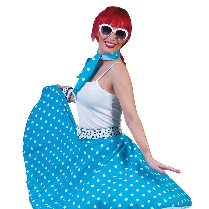 Womens Rock Nroll Skirt Blue Adult Costume - Female - One Size Halloween Costume