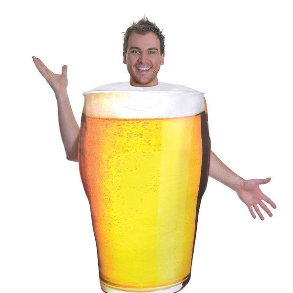 Mens Pint of Beer Costume (Adult Costumes) - Male - One Size Halloween Costume