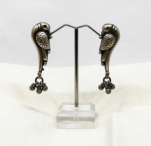 Sterling silver earrings parrot