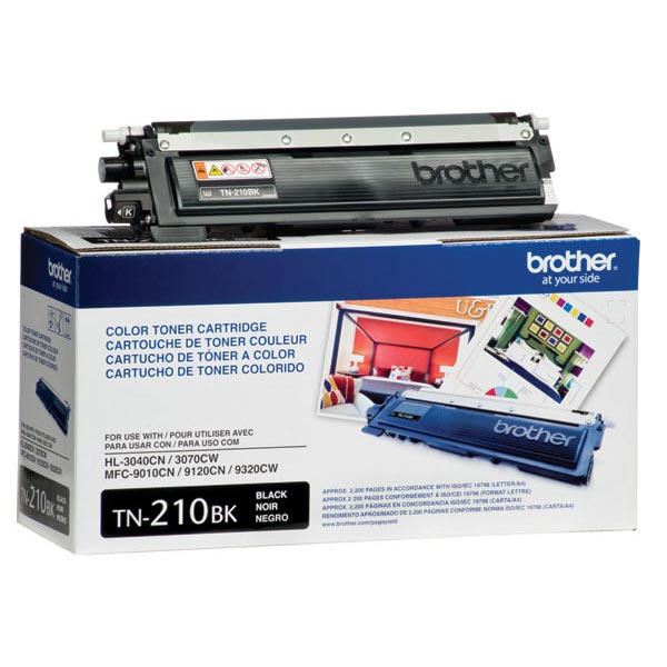 Brother TN-210BK, TN210BK OEM Toner Cartridge For HL-3040CN Black - 2.2K