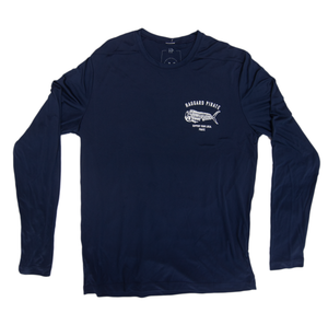 DEAD FISH TECH L/S - NAVY