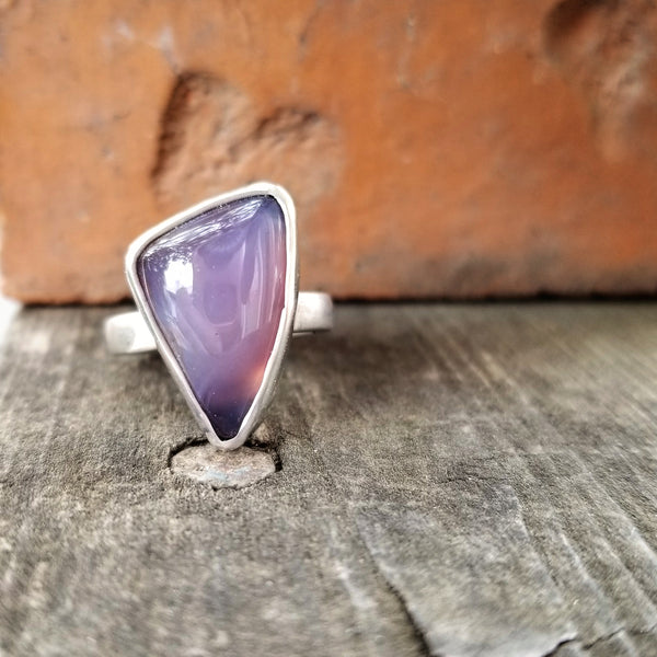 Purple Chalcedony Statement Ring size 6