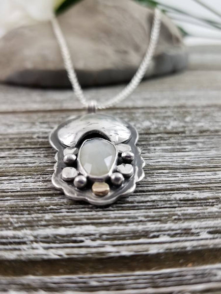 Moonstone Dreamer Silver Necklace