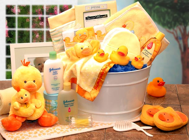 Bath Time Baby Gift tub - Large - Pink (Image shown is Yellow) - I'm a Gift-Basket Case!