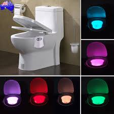 Motion Activated Toilet Night Light Bowl Bathroom LED 8 Color Lamp Sensor Light