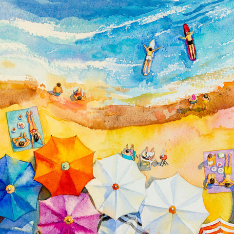 A Day at the Beach (145 Piece Wooden Jigsaw Puzzle)