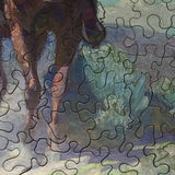 The Trail Foreman, Detail  (181 Pieces) by William Herbert Dunton, Wooden Jigsaw Puzzle