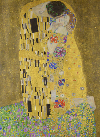 The Kiss by Gustav Klimt (371 Piece Wooden Jigsaw Puzzle)