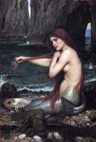 A Mermaid by J.W. Waterhouse - 288 Piece Wooden Jigsaw Puzzle