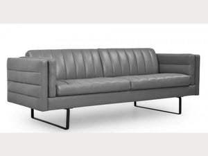Moroni Orson 582 Sofa in Grey, Top grain leather - Affordable Modern Furniture at By Design