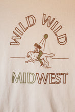 Load image into Gallery viewer, wild wild midwest women's tee in red & gold