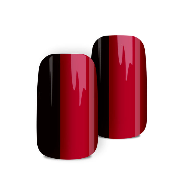 Red & Black Cameo - nail wraps - a salon finish without a manicure