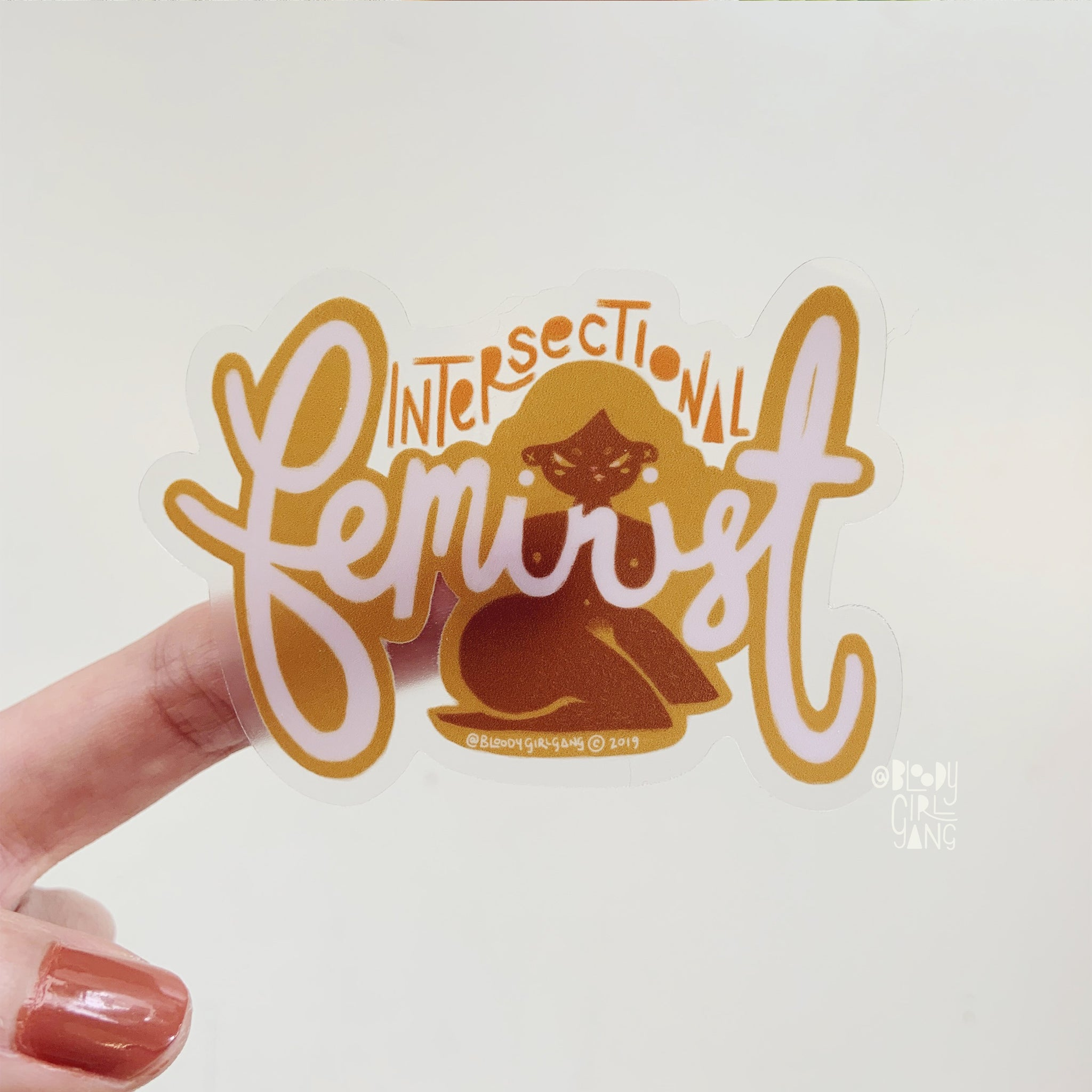 Intersectional Feminist Transparent Sticker