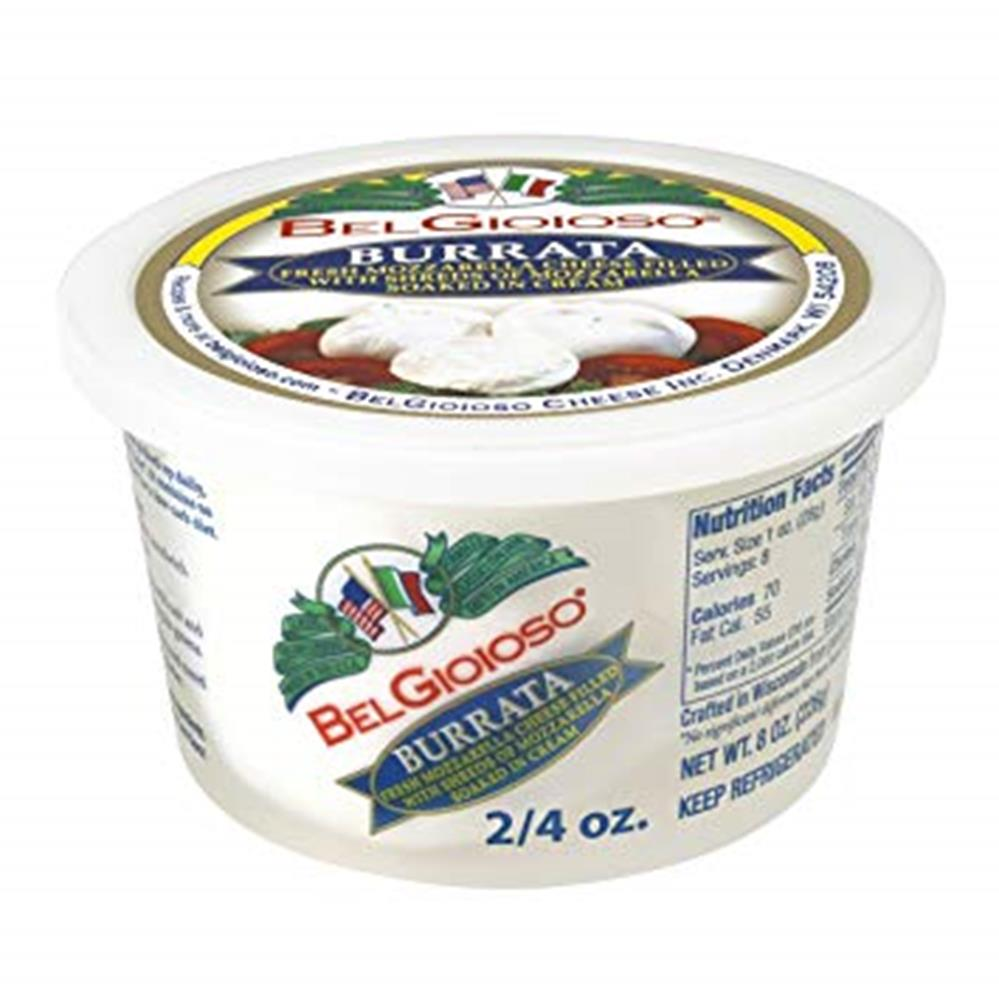 Belgioioso Burrata, 2 x 4 Oz. Per Cup (Pack of 3, 24 oz. total)