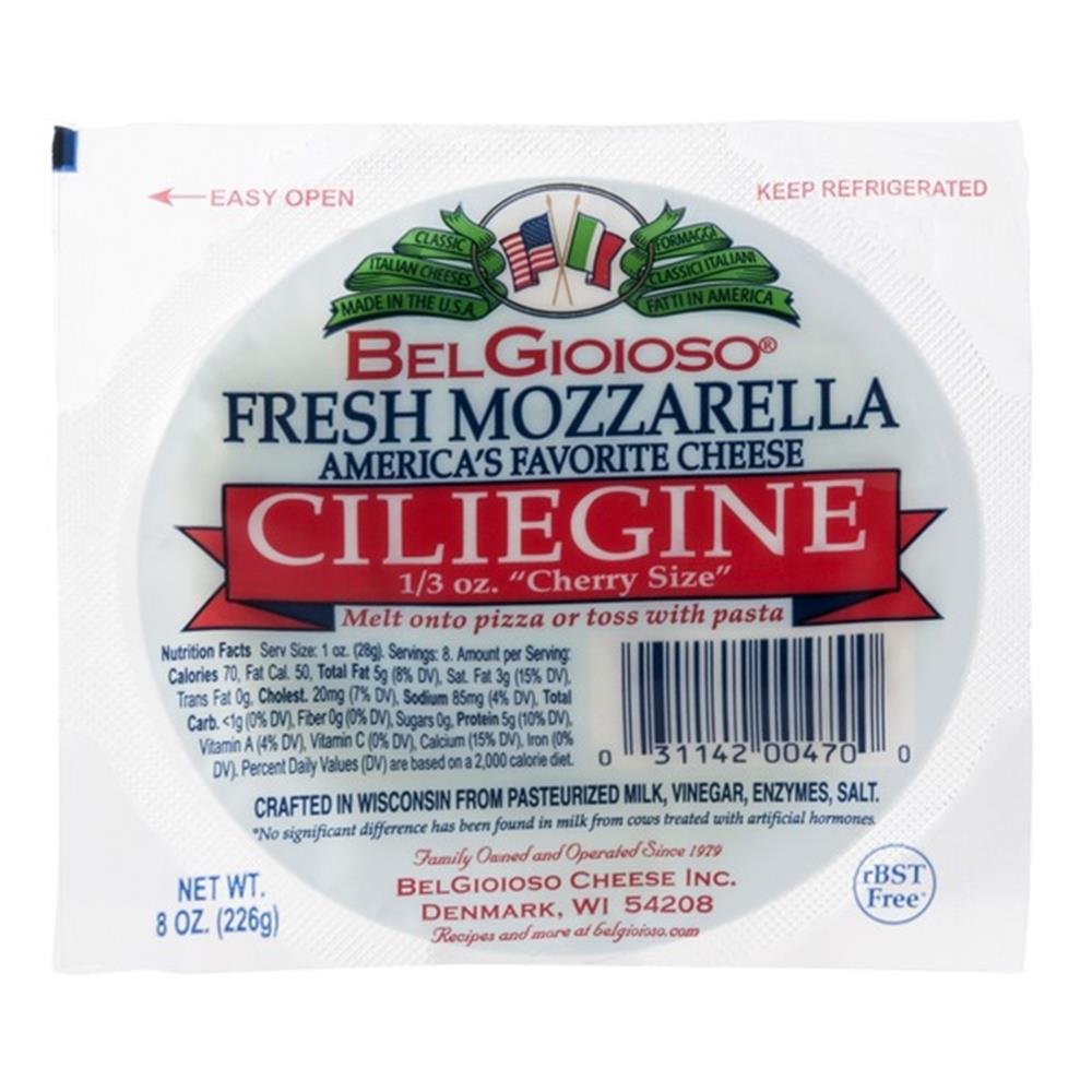 Belgioioso Ciliegine Mozzarella, 8 Oz (Pack of 3)