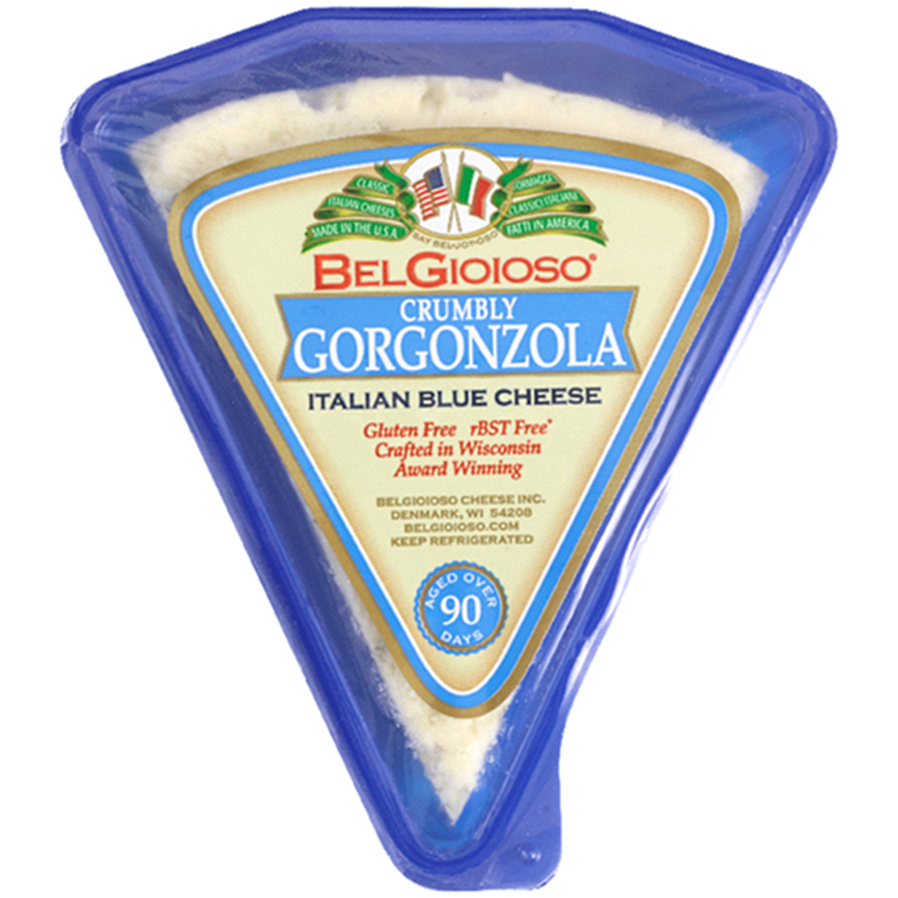Belgioioso Crumbly Gorgonzola Wedges, 8 Oz (Pack of 3)