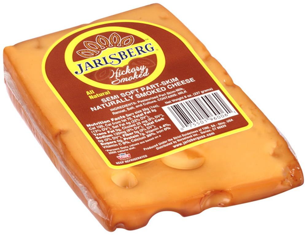 Jarlsberg Smoked Jarlsberg Wedge, 8 Oz (Pack of 3)