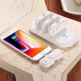 Magnetic Power Bank,5000mAh Power Bank Station and 4x1000mAh Mini Charging Battery Packs Garas Compatible with Apple Samsung and More,White
