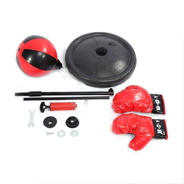 Children Kids Boxing Gloves Set , Punching Ball Bag , Adjustable Stand Kit +Pump