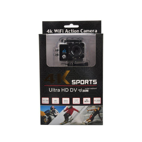 4K ACTION CAMERA 4k Wi-Fi Ultra HD Waterproof Sports Action Camera (Black) Sports and Action Camera  (Black 16 MP)