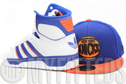 New York Knicks Royal Blue Orangeade Jet Black Circle NBA HWC New Era Fitted Cap