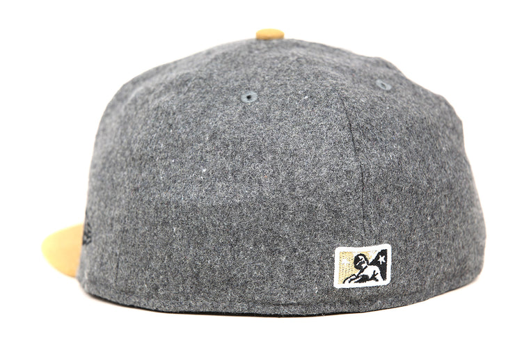 Tennessee Smokies Gray Melton Wool Wheat Toast Vachetta Pack Custom New Era Fitted Cap