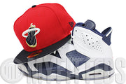 Miami Heat Scarlet Midnight Navy July 4th LeBron XI Independence Day Matching New Era Hat