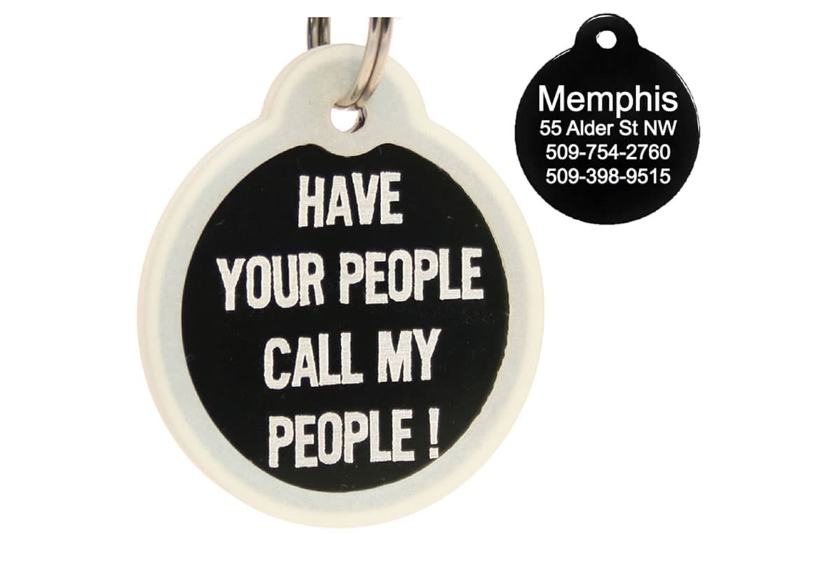GoTags Have Your People Call My People Pet ID Tags Personalized Engraved